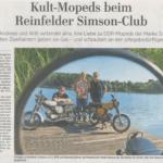 Kult-Mopeds beim Reinfelder Simson-Club